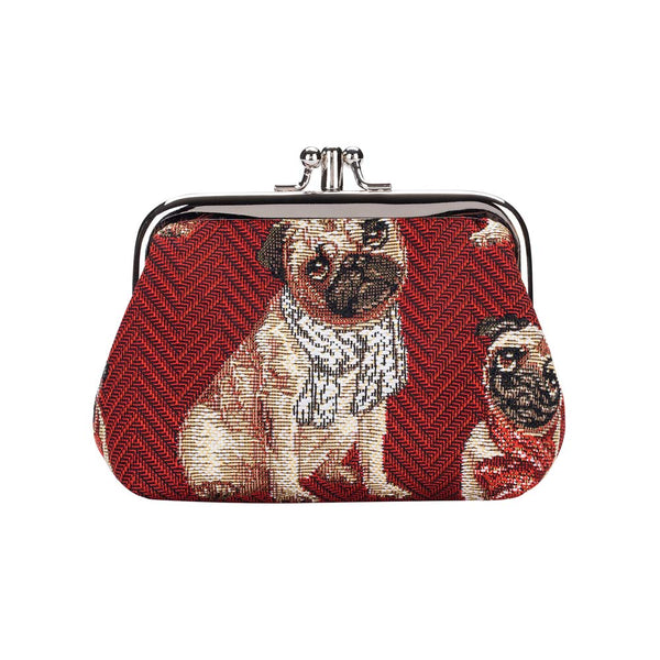 Pug Frame Purse | Coin Pouch Wallet With Funny Pugs | FRMP-PUG
