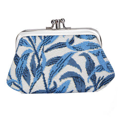 William Morris Willow Bough Frame Purse | Blue Tapestry Coin Purse | FRMP-WIOW