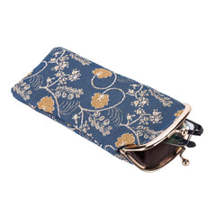 Jane Austen Blue Glasses Pouch | Floral Tapestry Glasses Case | GPCH-AUST