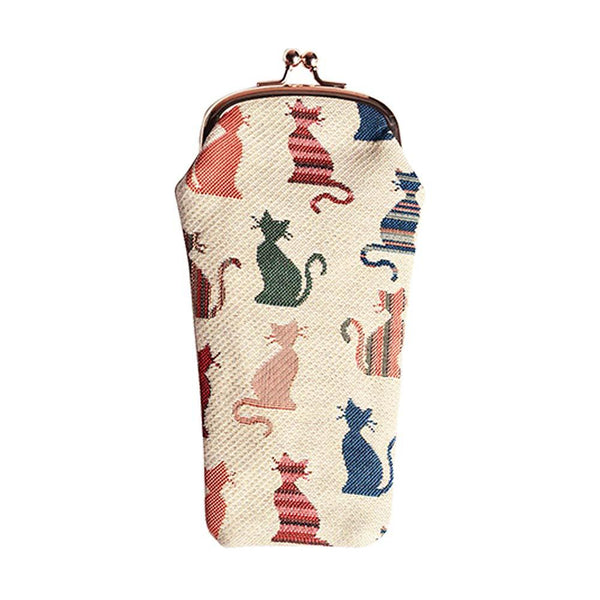 Cheeky Cat Glasses Pouch | Tapestry Glasses Case | GPCH-CHEKY