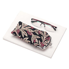 Golden Fern Glasses Pouch | Floral Tapestry Glasses Case | GPCH-GFERN