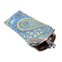 Paisley Glasses Pouch | Floral Eyeglasses Sunglasses Tapestry Case | GPCH-PAIS