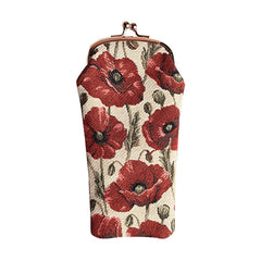 Poppy Glasses Pouch | Floral Fabric Glasses Case | GPCH-POP