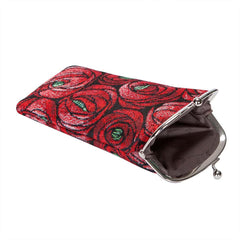 Mackintosh Rose and Teardrop Glasses Pouch | Floral Art Tapestry Glasses Case | GPCH-RMTD