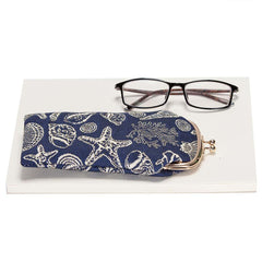Sea Shell Glasses Pouch Bag | Blue Tapestry Glasses Case | GPCH-SHELL