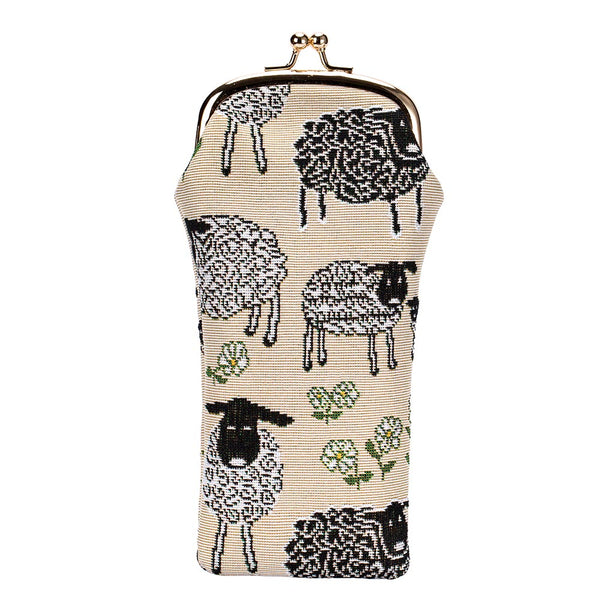 Spring Lamb Glasses Pouch | Woven Tapestry Glasses Case | GPCH-SPLM