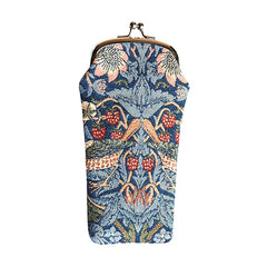 William Morris Strawberry Thief Blue Glasses Pouch | Tapestry Glasses Case | GPCH-STBL