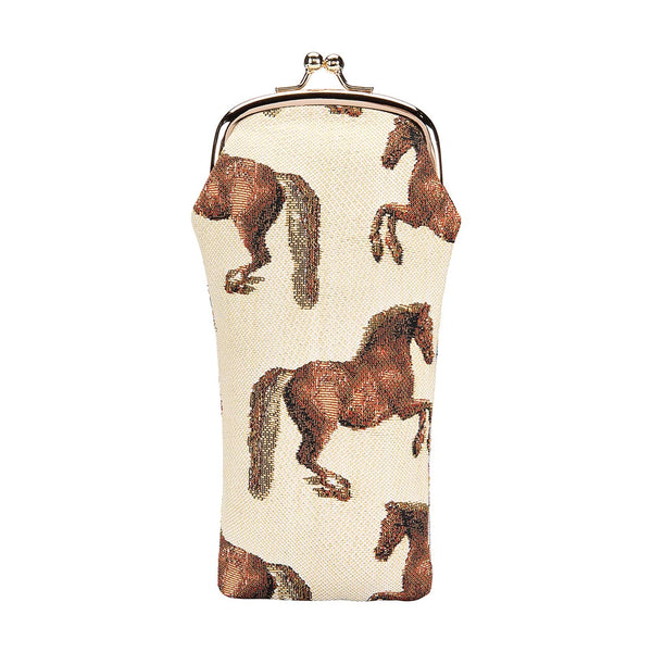 Whistlejacket Glasses Pouch | Horse Design Glasses Case UK | GPCH-WHISTLE