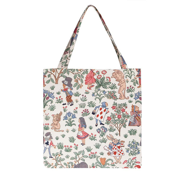 Alice in Wonderland Gusset Bag | Stylish Foldable Shopping Bag | GUSS-ALICE