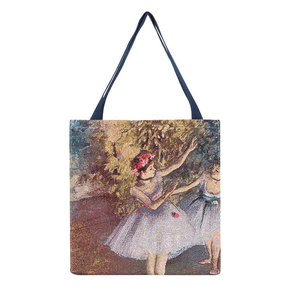 Edgar Degas Ballerina Gusset Bag | Tapestry Foldable Bag | GUSS-ART-ED-BLR-2