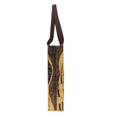 Klimt Gold Kiss Gusset Bag | Gold Tapestry Eco Foldable Tote Bag | GUSS-ART-GK-GDKS