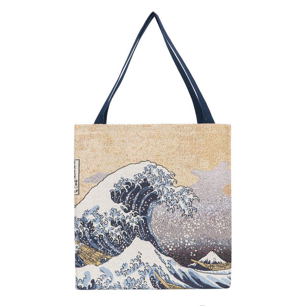 Great Wave off Kanagawa Gusset Bag | Art Eco Foldable Tote Bag | GUSS-ART-JP-WAVE