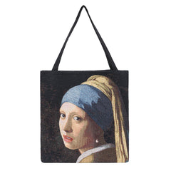 Girl with a Pearl Earring Gusset Bag | Tapestry Foldable Bag | GUSS-ART-JV-GIRL