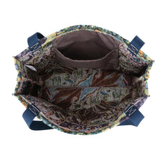 Van Gogh Iris Gusset Bag | Floral Eco Foldable Canvas Bag | GUSS-ART-VG-IRIS