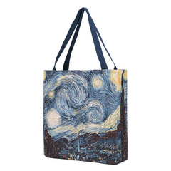 Van Gogh Starry Night Gusset Bag | Art Eco Foldable Canvas Bag | GUSS-ART-VG-STAR