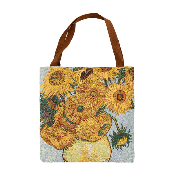 Van Gogh Sunflower Gusset Bag | Art Eco Foldable Canvas Bag | GUSS-ART-VG-SUNF