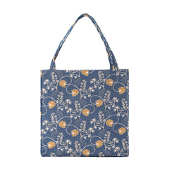 blue foldable shopping tote bag signare