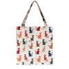 Cheeky Cat Gusset Bag | Womens Tapestry Foldable Bag | GUSS-STBL