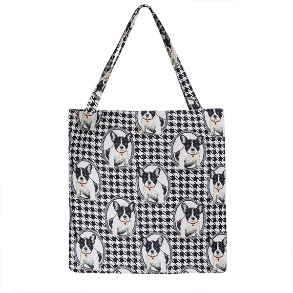 French Bulldog Gusset Bag | Stylish Foldable Shopping Bag | GUSS-FREN