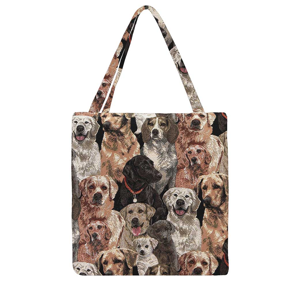 Labrador Gusset Bag | Stylish Foldable Shopping Bag | GUSS-LAB