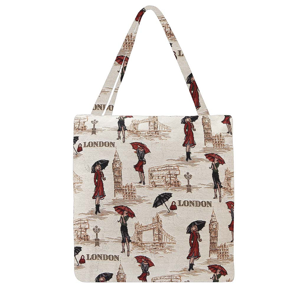 Miss London Gusset Bag | Stylish Foldable Shopping Bag | GUSS-MSLN