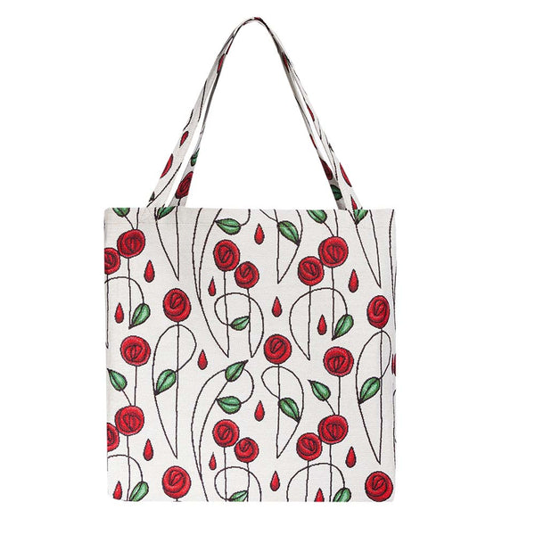 Mackintosh Simple Rose Gusset Bag | Floral Foldable Shopping Bag | GUSS-RMSP