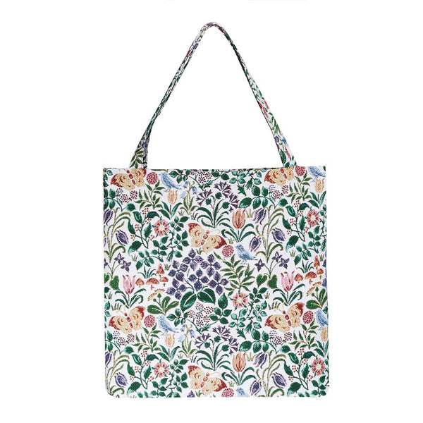 Spring Flower Gusset Bag | Floral Pattern Foldable Shopping Bag | GUSS-SPFL