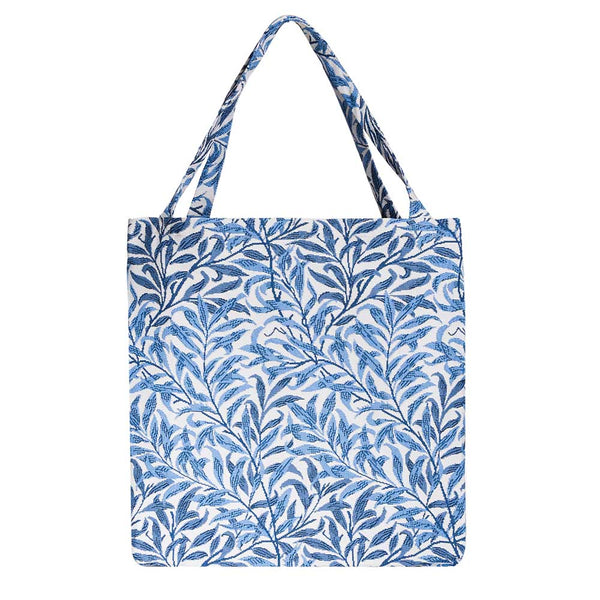 Willow Bough Gusset Bag | Blue Foldable Shopping Bag | GUSS-WIOW