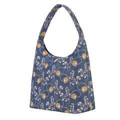 Jane Austen Blue Hobo Bag | Blue Tapestry Large Shoulder Bag | HOBO-AUST