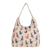 Cheeky Cat Hobo Bag | Womens Large Cat Design Shoulder Bag | HOBO-CHEKY