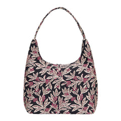 Golden Fern Hobo Bag | Floral Tapestry Large Shoulder Bag | HOBO-GFERN