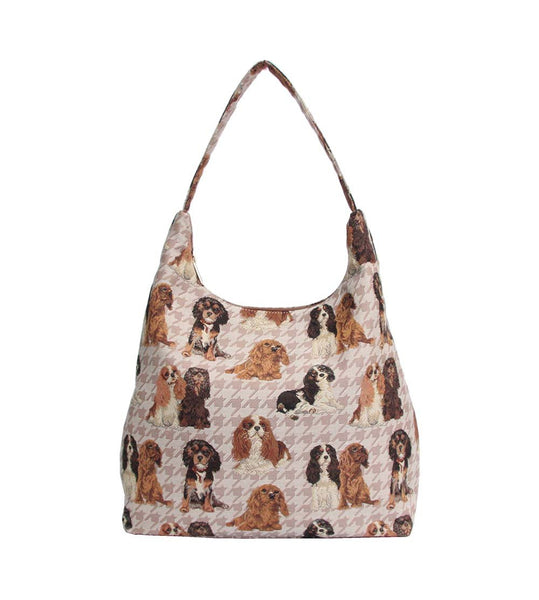Cavalier Hobo Bag | Tapestry Womens Large Shoulder Bag | HOBO-KGCS