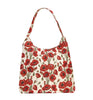 Poppy Hobo Bag | Floral Shoulder Branded Stylish Fabric Handbag | HOBO-POP