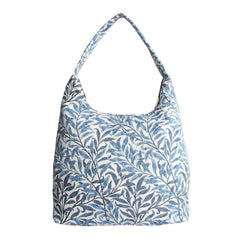 William Morris Willow Bough Hobo Bag | Blue Tapestry Large Shoulder Bag | HOBO-WIOW