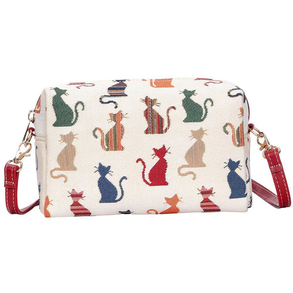 Cheeky Cat Hip Bag | Stylish Tapestry Branded Shoulder Strap Bag | HPBG-CHEKY