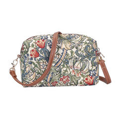 William Morris Golden Lily Hip Bag | Designer Floral Art Unusual Shoulder Handbag | HPBG-GLILY