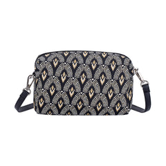 Luxor Hip Bag | Art Deco Black Cross Shoulder Bag | HPBG-LUXOR