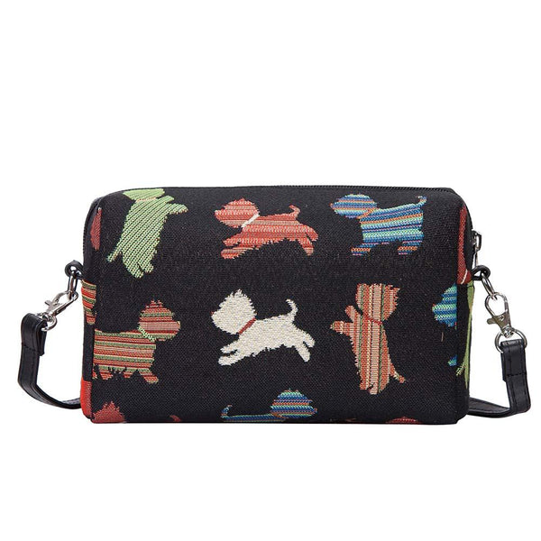 Playful Puppy Hip Bag | Cute Long Strap Shoulder Bag Playful Puppy | HPBG-PUPPY