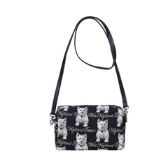 Westie Hip Bag | Ladies Black Cross Shoulder Bag | HPBG-WES