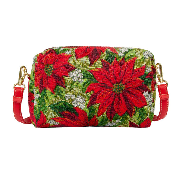 Christmas Poinsettias Party Bag | Christmas Shoulder Bag | HPBG-XMAS-POIN