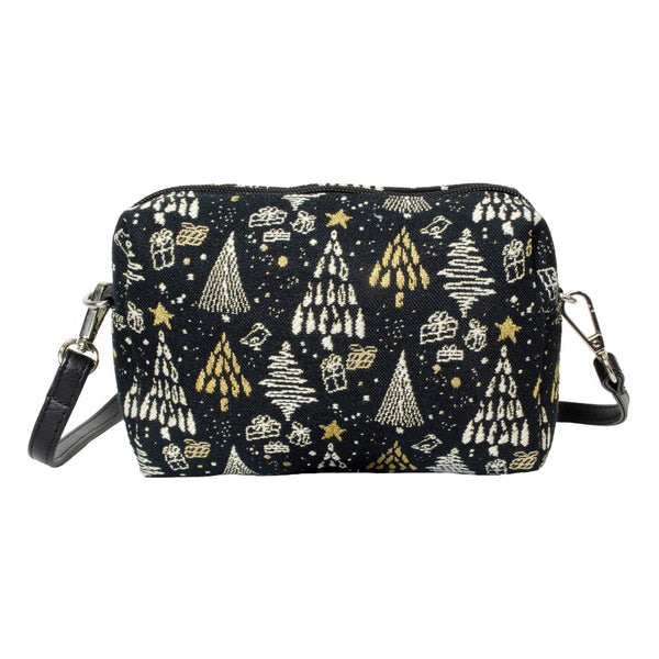 Christmas Tree Party Bag | Black and Gold Cross Shoulder Bag | HPBG-XMAS-TREE