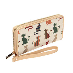 Cheeky Cat Long Zip Round Wallet | RFID Ladies Purse | LZIP-CHEKY