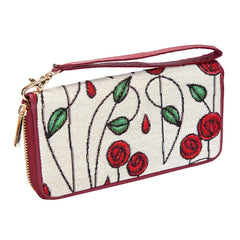 Mackintosh Rose Long Zip Round Purse | Floral RFID Ladies Purse | LZIP-RMSP