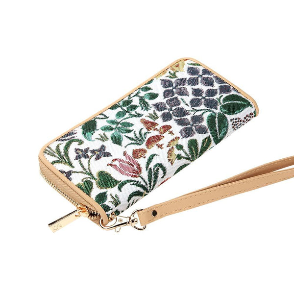 Spring Flowers Long Zip Round Purse | Floral RFID Purses UK | LZIP-SPFL