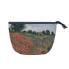 Monet - Poppy Field Art Makeup Bag | Art Beauty Cosmetic Bag | MAKEUP-ART-CM-POPFL