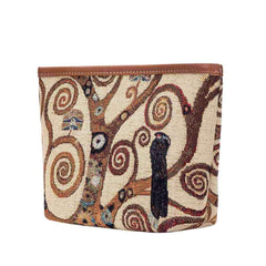 Gustav Klimt Tree of Life Art Makeup Bag | Art Nouveau Beauty Case | MAKEUP-ART-GK-TREE