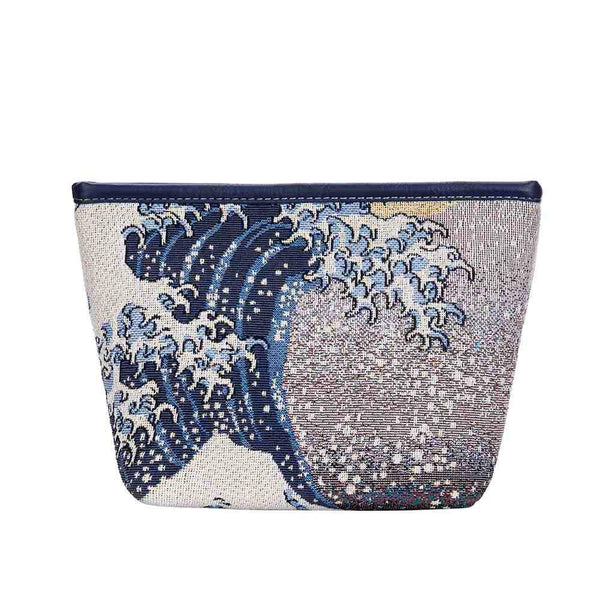 Hokusai Art Makeup Bag | Japanese Wave Beauty Bag | Great Wave off Kanagawa | MAKEUP-ART-JP-WAVE