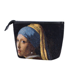 Vermeer Lady with a Pearl Earring Art Makeup Bag | Beauty Cosmetic Bag | MAKEUP-ART-JV-GIRL