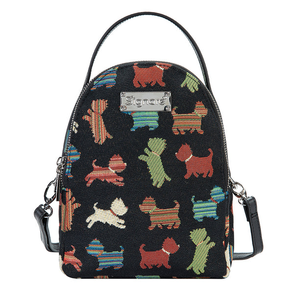 Playful Puppy Mini Pack | Small Black Backpack | MIPK-PUPPY