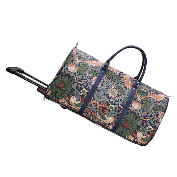 William Morris Designs Strawberry Thief Blue Pull Holdall | PULL-STBL | PULL-STBL